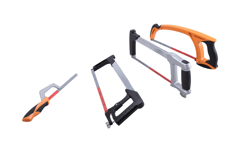 1Piece Heavy Duty High-Tension Hacksaw Frame with Plastic Handle